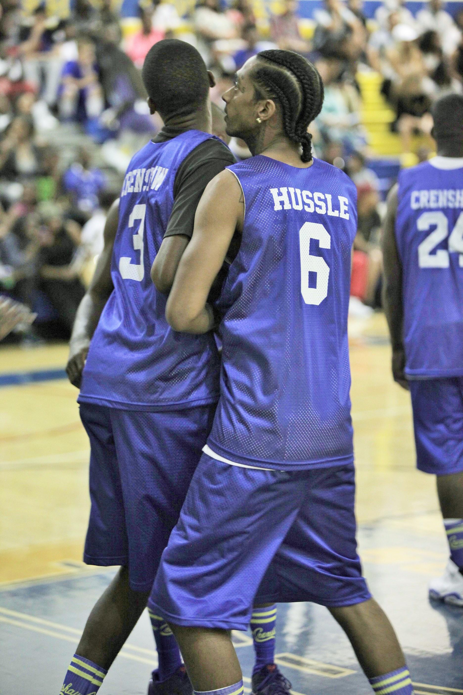 Nipsey Hussle on defense