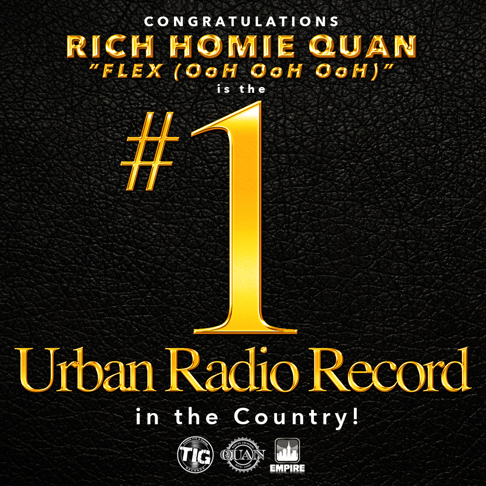 Rich Homie Quan's _Flex_ #1 at Urban Radio