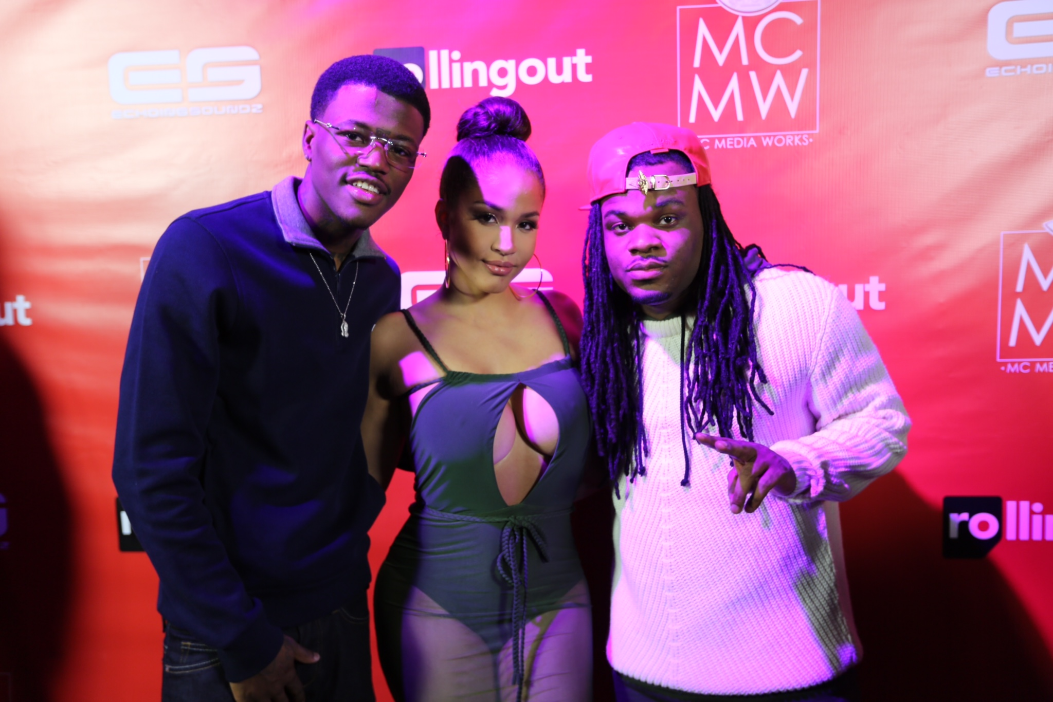 Rosa Acosta, Emmanuel Hudson and DC Young Fly