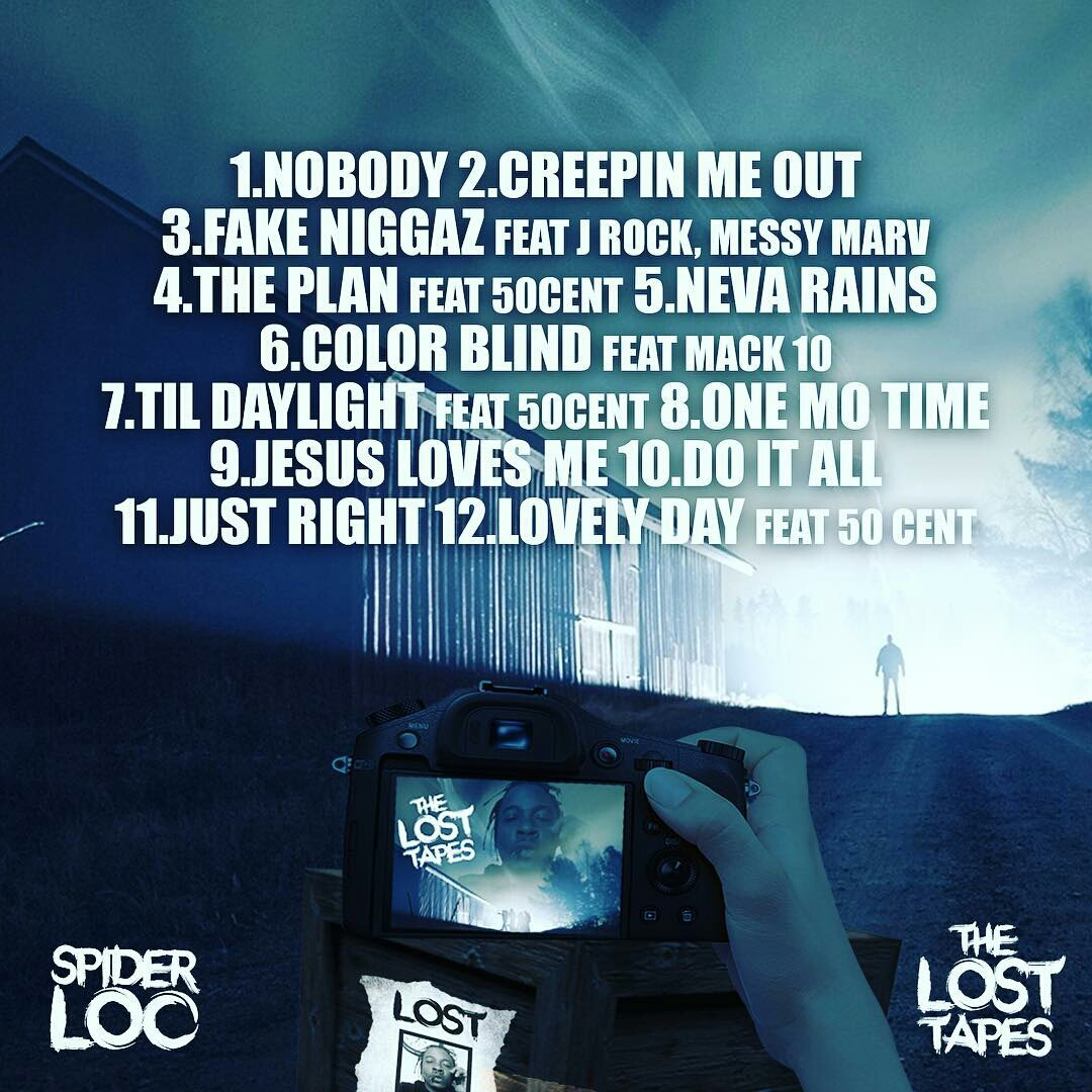 Spider Loc To Release Unreleased G Unit Album Lost Tapes | Tracklist | Back Cover