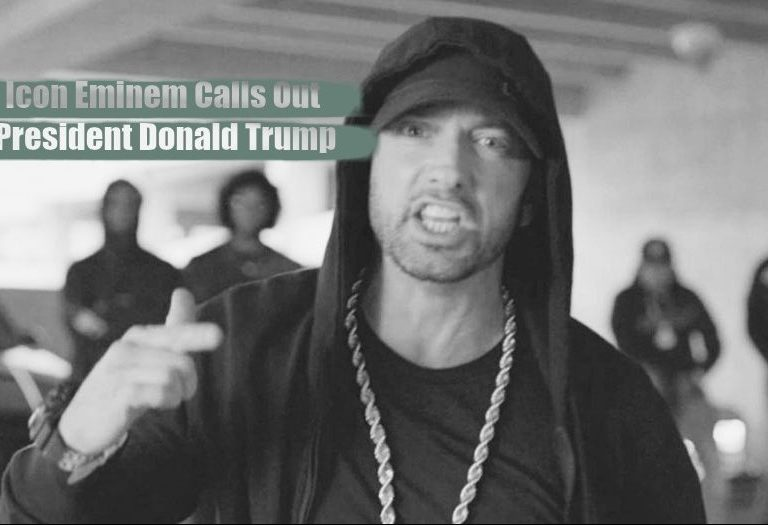 Mega Rap Icon Eminem Calls Out Donald Trump
